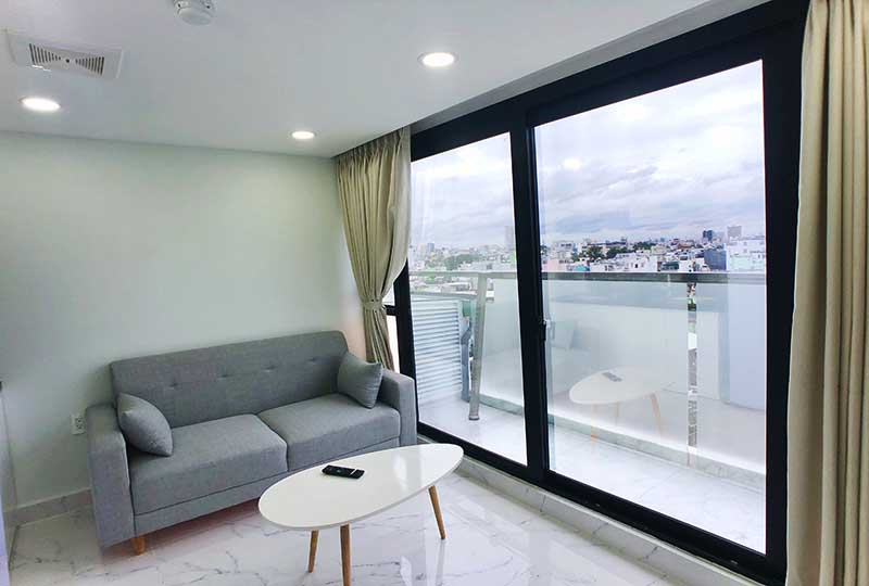 Bright Serviced apartment for rent in District 3 on Nguyen Thong Street