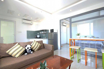 Cozy serviced apartment for lease in Duong Ba Trac street, district 8, Ho Chi Minh city, Vietnam.