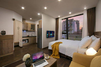 Nice studio serviced apartment for rent in Binh Thanh district Ho Chi Minh city