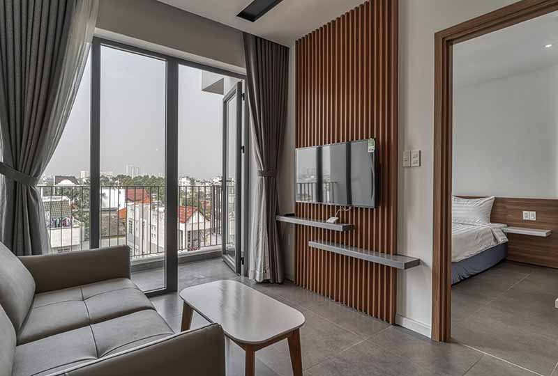 Spacious one bedroom serviced apartment on Thao Dien for rent 2